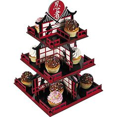 "Foam Ninja Cupcake Holder Stand (19"" High x 13"" Wide) Asian Japanese Samurai themed birthday party boy (Ninja) Perfect Seeking http://www.amazon.com/dp/B01BMPLWAS/ref=cm_sw_r_pi_dp_fCbWwb1BP2CB5"
