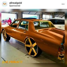 🧀🧀AllRealGold 🧀🧀on top of the 🌎 turn your chrome or polished parts into Gold using AllRealGold quart kits for big projects and our spray cans for smaller projects 🔥🔥🔥🔥🔥🔥🔥🔥🔥😎😎 Chevy Caprice Classic, Chevrolet Caprice, Candy Paint Cars, Donk Cars, Suv Cars, Chevy Muscle Cars, Old School Cars, Instagram Widget, Car Painting