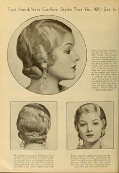 Classic Updo Hairstyles, 30s Hairstyles, Vintage Hairstyles, Hairdos, Medium Hair Styles, Natural Hair Styles, Long Hair Styles, Historical Hairstyles, Hair Patterns