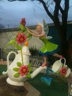 Tinker Bell, Peter Pan Mini Golf, Austin TX...sculptor: Cheryl D Latimer