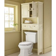Ridgeway Space Saver from Through the Country Door®--FINALLY a toilet cabinet that has all the components I want in one!!! gotta get this for the kids' bathroom