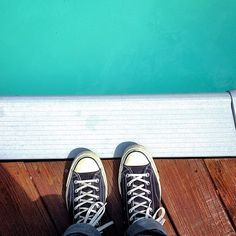 Reflection pool. #converse #chucktaylor