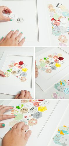 Awesome DIY Keepsake idea for saving pieces of your wedding cards in a frame!