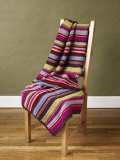 Free Crochet Pattern: Stripes! Blanket  Maybe someday I will have the motivation and courage to start a blanket.