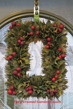 Need idea for a wreath.  I'd probably use a wooden frame for the base.