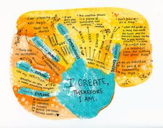 Bloom True Boot Camp' - Week 2: Your Creative Manifesto. Margarita V. #bloomtruebootcamp #bloomtrue #braveintuitivepainting #florabowley #creativemanifesto