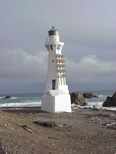 NEW ZEALAND - Pencarrow Lighthouse,  Pencarrow Head, Wellington, North Island