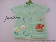 Pattern baby cardigan/Knitted baby cardigan/knit baby от AnaSwet