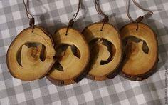 Подвески из дерева КОТИКИ - бежевый,из дерева,натуральные материалы,котики