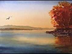 Рассвет и Отражения акварелью. Sunrise & reflections. Watercolour - YouTube
