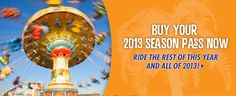 2013 Boardwalk Season Passes on sale now! Ride the rest of this year and all of 2013 for just $72.95 +tax.