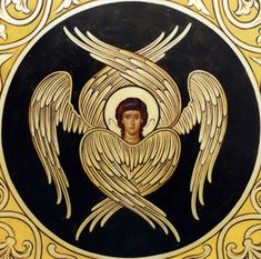 A seraph angel icon / highest rank in the Christian angelic hierarchy Byzantine Icons, Byzantine Art, Christian Symbols, Christian Art, Angel Hierarchy, Order Of Angels, Seraph Angel, Cherub Tattoo, Seraphin