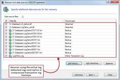 Compressed backup support - Use natively compressed transaction log backups as data sources