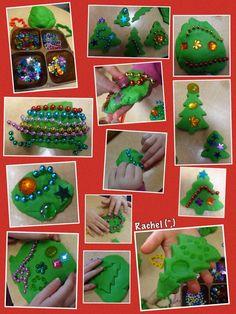 "Christmas Tree Dough from Rachel ("",)"