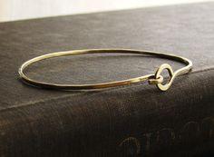 bracelet SDMarieJewelry - brass hook bangle bracelet