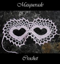 Ravelry: Two Hearts Lace Masquerade Mask pattern by Farrah for 365 Crochet