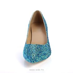 """""""2.5 inch Blue Glitter Leather shoes $49.98"""""""