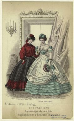 CASUAL SEPARATES / GARIBALDI --- Englishwoman's Domestic Magazine, December 1861 - casual separates at left