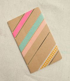 Alternate way to washi tape your journal.