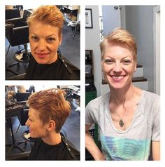Liberated salon - Los Angeles, CA, United States. Gorgeous transformation from red to strawberry blonde on Megan's client!