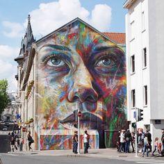 @artofdavidwalker in France.  www.UpFade.com #StreetArtGlobe #StreetArt by streetartglobe