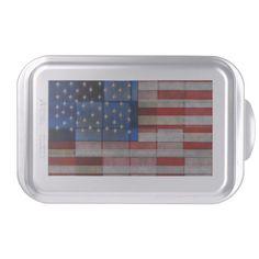 American Flag Quilt Cake Pan