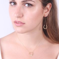 Amazing  Unique design of Avni's- beautiful long drop earrings, horseshoe shape with hammered texture. Dainty and delicate earrings, a unique  and elegant design. Amazing look, no o... #jewelry #etsy #gold #goldfilled #minimal #style