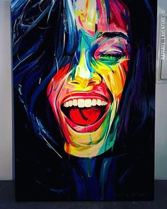 Handmade Oil Painting On Canvas Abstract Painting Abstract Art Black A – radishral Abstract Portrait Painting, Abstract Face Art, Abstract Paintings, Art Photography Portrait, Portrait Art, Art And Illustration, Art Illustrations, Pop Art, Oil Pastel Paintings