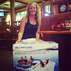 Michelle will be floating in style for the rest of the summer! She won this great prize through our FB contest! https://www.facebook.com/foxpubkamloops?ref=hl