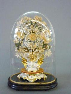 Globe de mariée, H. : 53cm