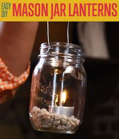 Easy DIY Mason Jar Lantern Projects | DIY Ready's Amazingly Easy DIY Projects For Anyone Who Love DIY