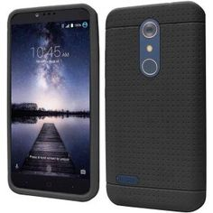ZTE Zmax Pro Carry Z981 Silicone Case - Black Ultra Thin Rugged 1