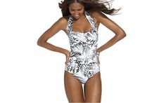 tummy control swimsuits | Swim Solutions | Ruched Tie Tummy Control Suit, $84 at ... | Swimsuits