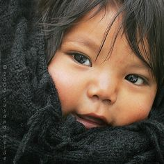 Tarahumara Indian baby girl Mexico