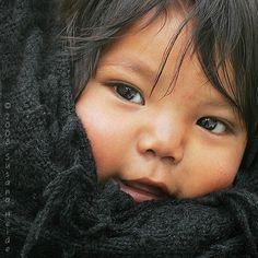 Tarahumara Indian baby girl Mexico