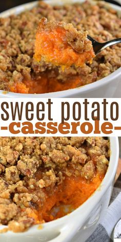In my family the Best Sweet Potato Casserole recipe is one thats served up sweet and salty with a delicious crunchy streusel topping! Thanksgiving Recipes, Fall Recipes, Holiday Recipes, Thanksgiving Casserole, Thanksgiving 2020, Christmas Recipes, Best Sweet Potato Casserole, Sweat Potato Casserole, Marshmallows