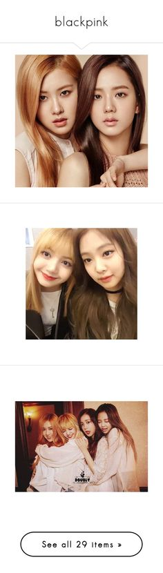 """""""blackpink"""" by soft-bites ❤ liked on Polyvore featuring home, kitchen & dining, blackpink, kpop, pictures and text"""