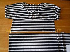 Dámské úpletové šaty s pružným pasem a kapsami | Polo Shirt, Model, Mens Tops, Shirts, Fashion, Bags Sewing, Sewing Patterns, Moda, Polos