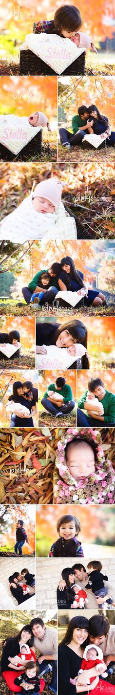 Gorgeous outdoor fall newborn session by the amazing Michele of Pinkletoes. Love.