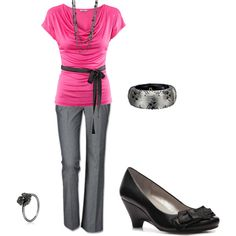 dress pant outfit, created by kjzolman on Polyvore