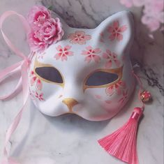 Japanese Fox Hand-painted Cosplay Mask A cool cosplay Japanese style anime fox m. - Japanese Fox Hand-painted Cosplay Mask A cool cosplay Japanese style anime fox mask, painted with h - Kitsune Maske, Japanese Fox Mask, Kawaii Accessories, Costume Accessories, Cool Masks, Cat Mask, Masks Art, Drawing Clothes, Kawaii Clothes