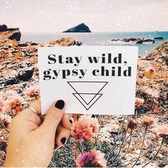 stay wild, gypsy child