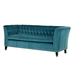 I've just found Large Button Back Sofa In Turquoise. A classy, elegant sofa in a delightful bluish turquoise. French Furniture, Sofa Furniture, Shabby Chic Furniture, Luxury Furniture, Classic Furniture, Handmade Furniture, Furniture Ideas, Furniture Design, Turquoise Couch