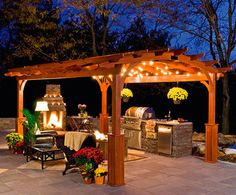 lighting a pergola | Hearthside Pergola - traditional - outdoor products - boston - by ...