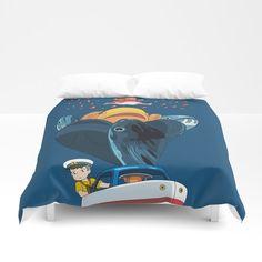 Ponyo Duvet Cover by Laura Frere - Queen: x Studio Ghibli, Fan Art, Foot Of Bed, Twin Twin, Soft Duvet Covers, Miyazaki, Duvet Insert, Hand Sewn, King Size