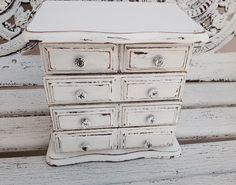 JEWELRY BOX Distress Wood Jewelry Holder Shabby Chic Jewelry Storage
