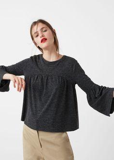 T-shirt manches cloche - T-shirt pour Femme   MANGO France
