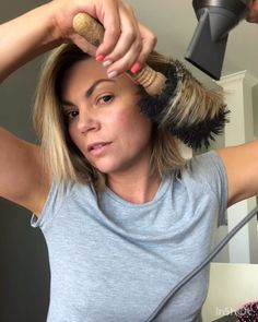 How to blow dry a bob or lob hairstyle Loading. How to blow dry a bob or lob hairstyle Short Hair Blowout, Blow Out Short Hair, How To Blowdry Hair, Short Hair Tips, Curling Short Hair, Straight Hairstyles For Long Hair, Curls For Short Hair, Blonde Short Hairstyles, Long Bob With Curls