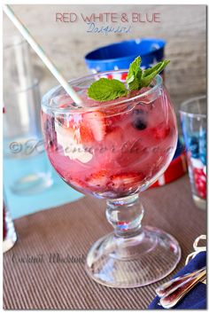 Red White & Blue Daiquiri
