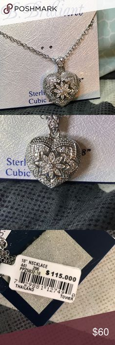 """sterling Silver Heart Pendant Necklace NEVER WORN Brand new never worn sterling silver heart pendant necklace 18"""" Jewelry Necklaces"""